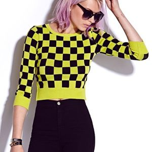 Forever 21 | Checkered 3/4 Sleeve Sweater size M